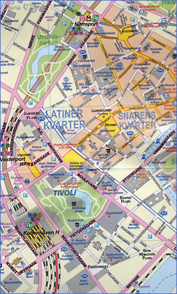 copenhagen 9783897071582 Scandinavia Map Tourist Attractions