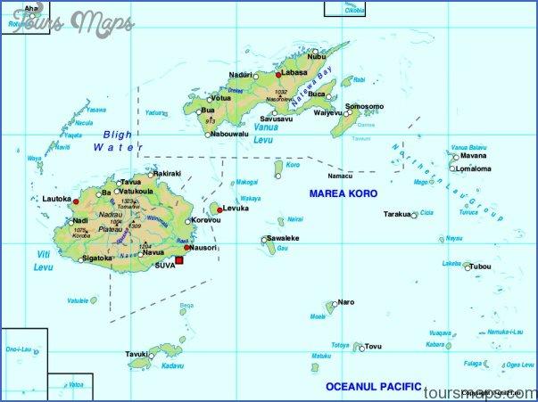 Fiji Map - ToursMaps.com ®