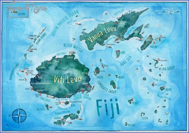 fiji map 1 Fiji Map