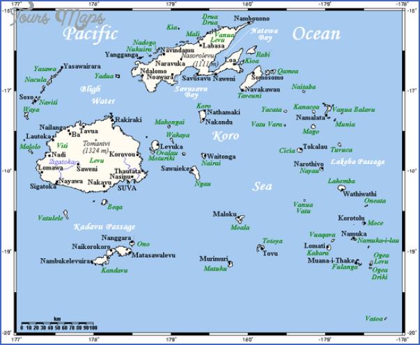 fiji map Fiji Map