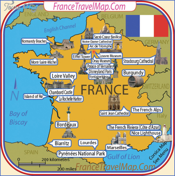 Map Of France For Tourists.France Map Tourist Attractions Toursmaps Com