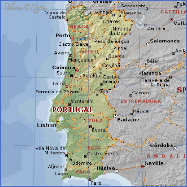 geographical map portugal Portugal Map