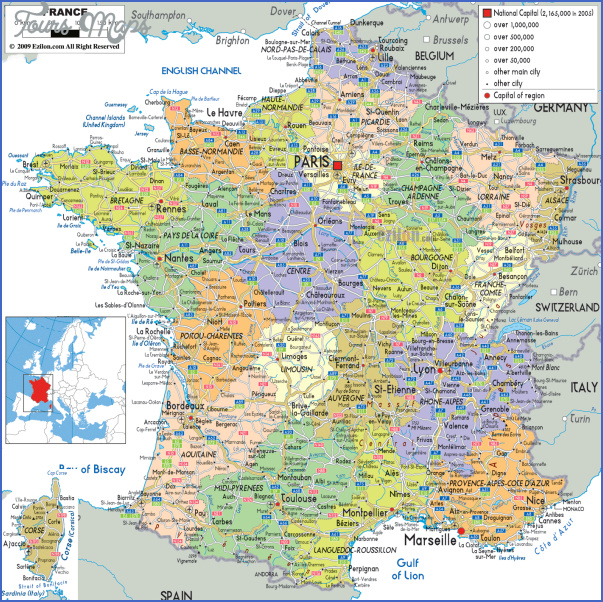 large detailed political and administrative map of france with all roads cities and airports France Map