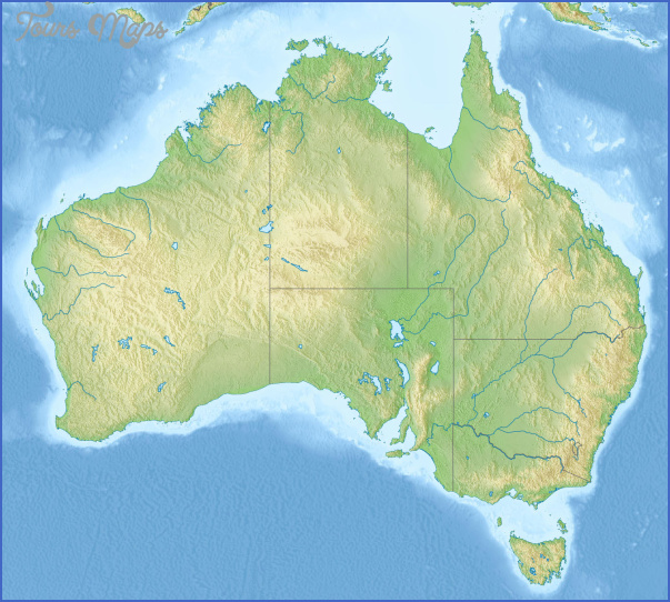 large detailed relief map of australia Australia Map