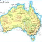 large physical map of australia with roads and cities for free 150x150 Australia Map