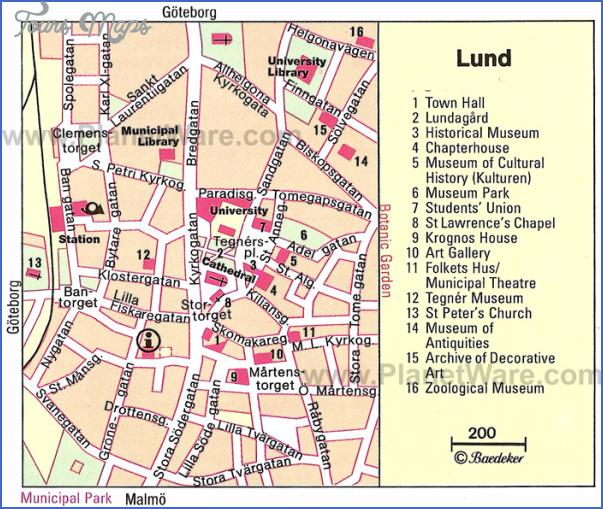 lund map Scandinavia Map Tourist Attractions