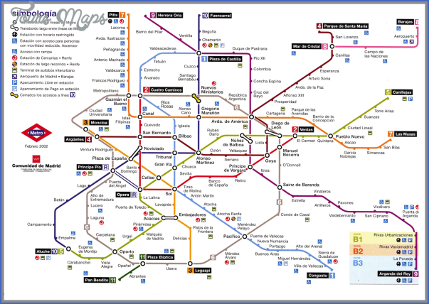 madrid metro map mappa madrid large Spain Subway Map
