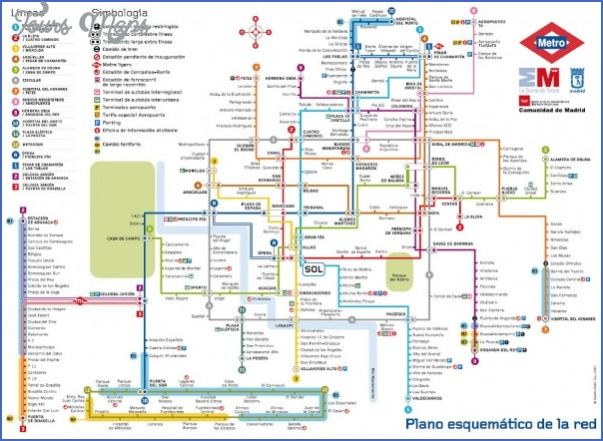 madrid metro map mediumthumb Spain Subway Map