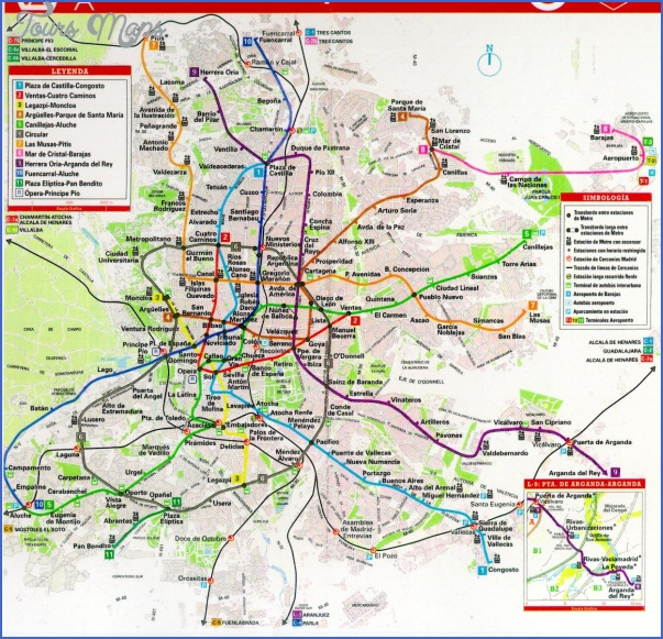 madrid transit map Spain Subway Map