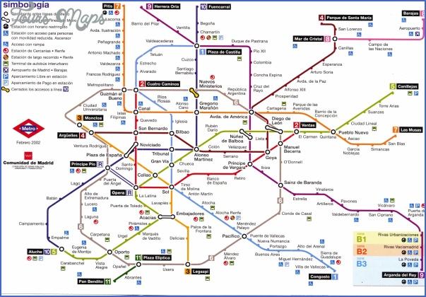 madrid underground map Spain Metro Map