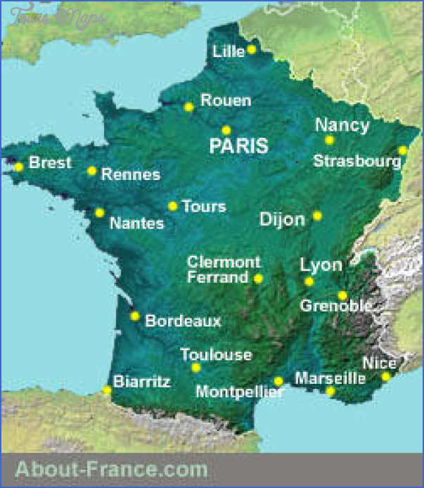 Cities In South Of France Map.France Map Tourist Attractions Toursmaps Com