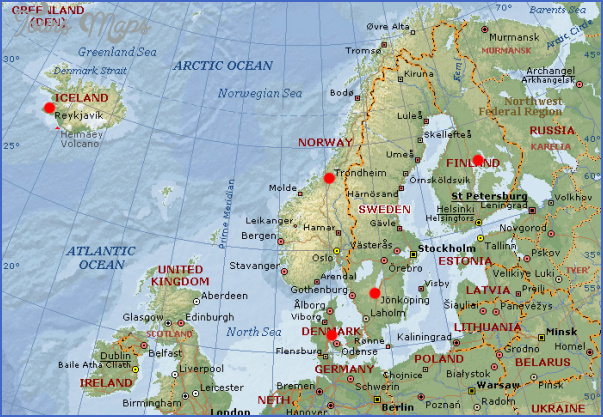 SCANDINAVIA ToursMapscom - Map of scandinavia