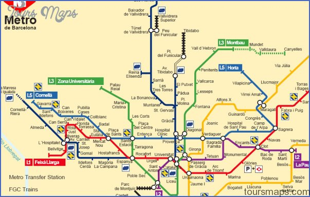 mapmetrobarcelona Spain Subway Map