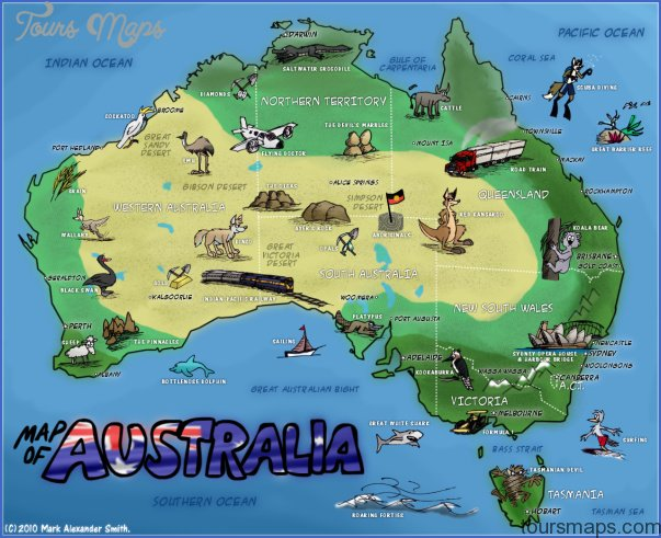 mapofaustralia Australia Map Tourist Attractions