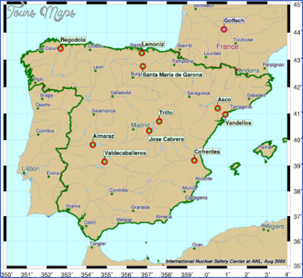 mapspain Spain Map Tourist Attractions