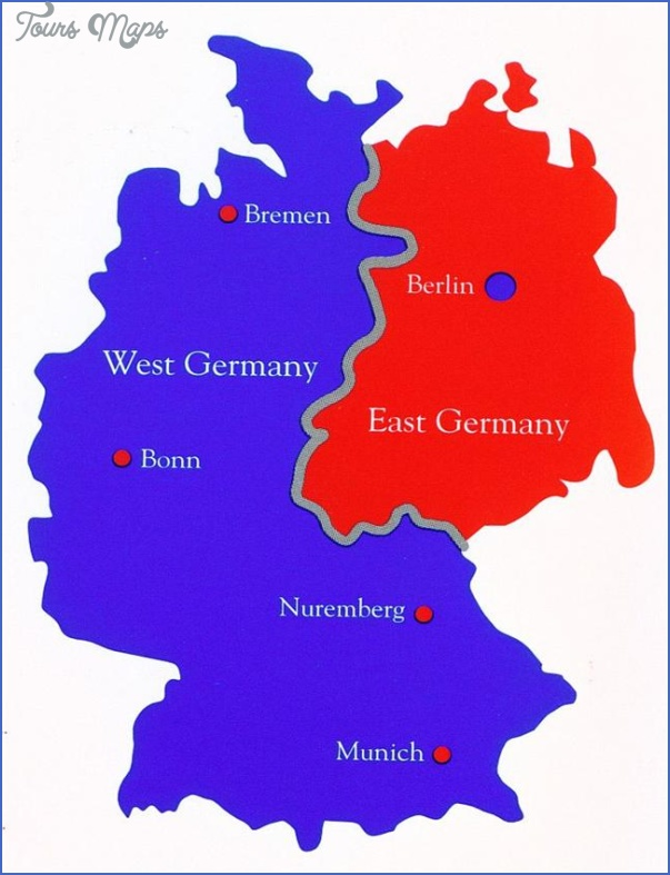 mapwest eastgermany WEST GERMANY
