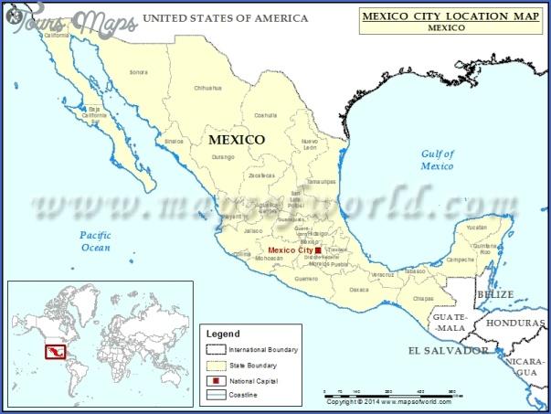 mexico city location map Mexico City Map