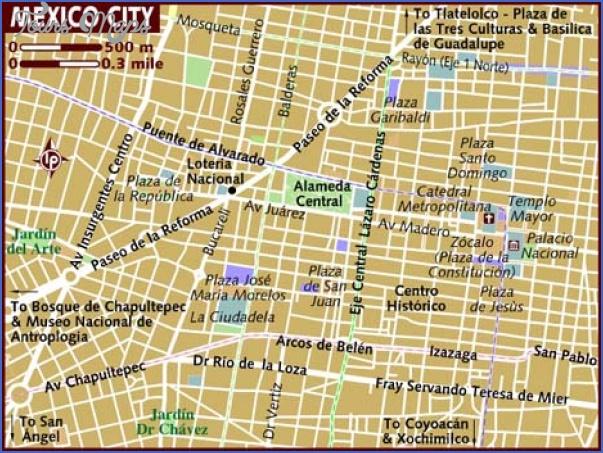 mexico city map 0 Mexico City Map