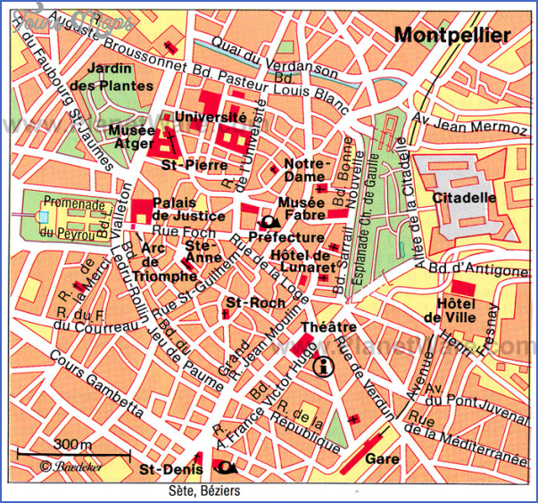 montpellier attractions map France Map Tourist Attractions