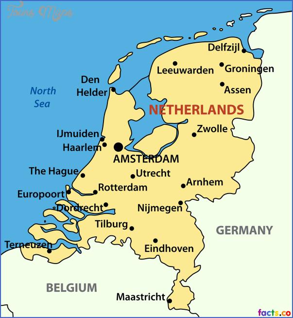 netherlandspoliticalmap THE NETHERLANDS