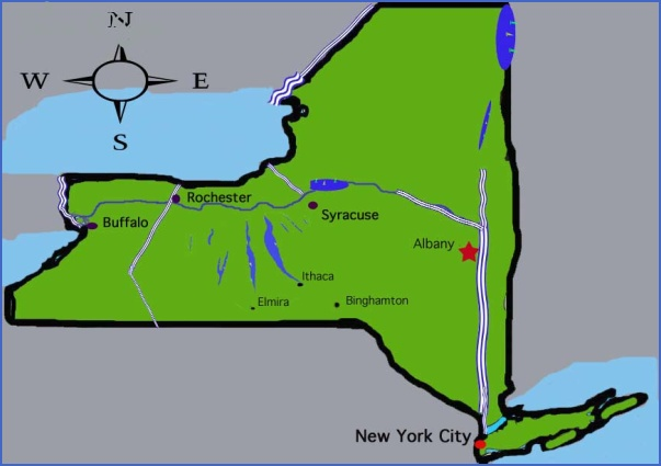 New York map major cities Map Travel Holiday Vacations – Map of Major Cities in New York