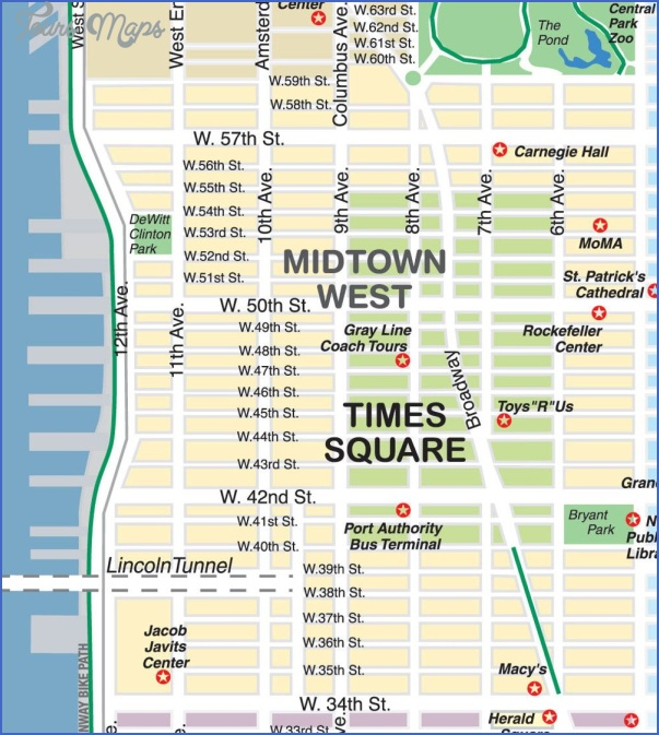 New York map midtown   ToursMaps.®