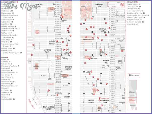 New york map midtown for Best consignment stores nyc