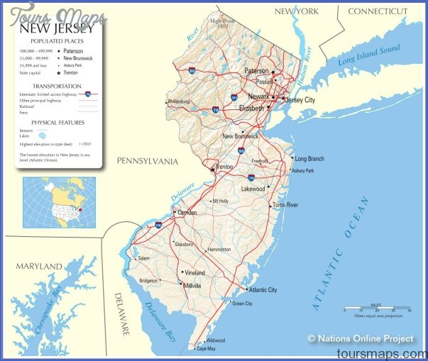 New York Map New Jersey  Map  Travel  Holiday  Vacations