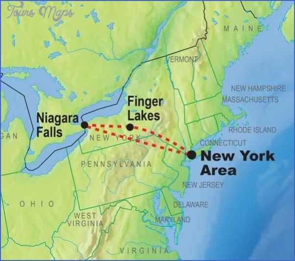 New York Map Niagara Falls Toursmaps Com