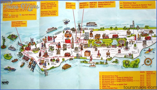 new york map of attractions  4 New York map of attractions