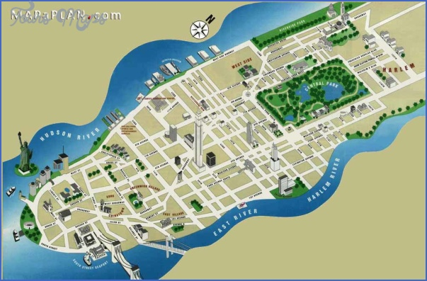 new york map of attractions  5 New York map of attractions