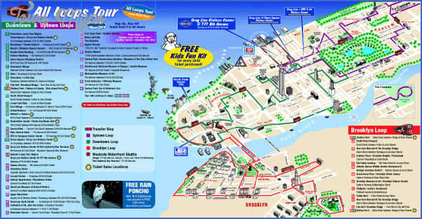 new york map of attractions  6 New York map of attractions