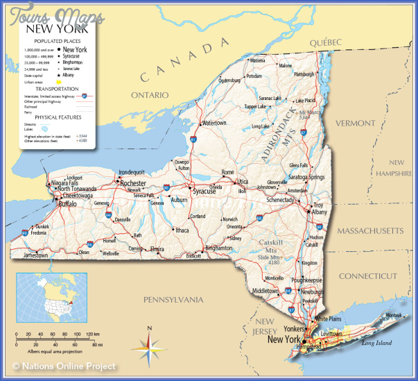 new york map of towns 7 New York map of towns