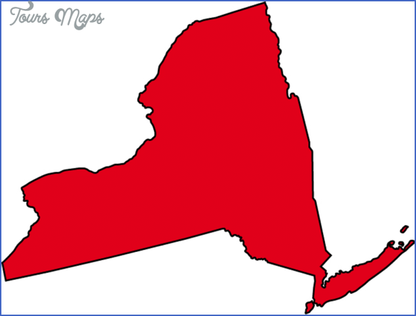 new york map outline  11 New York map outline