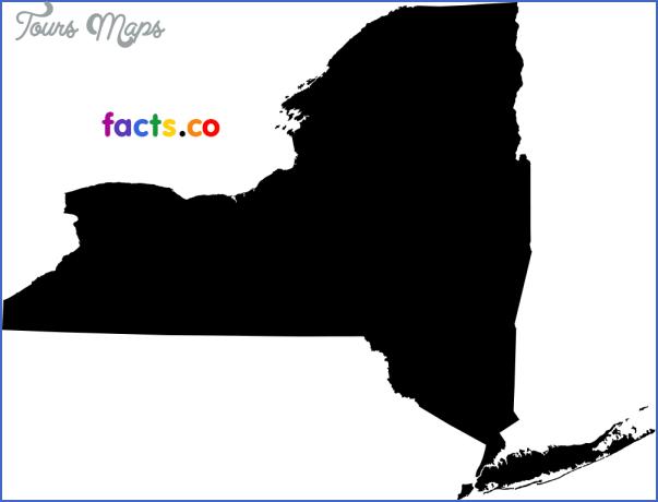 new york map outline  14 New York map outline