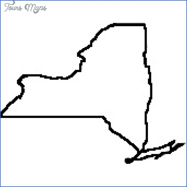 New York Map Outline Toursmaps Com