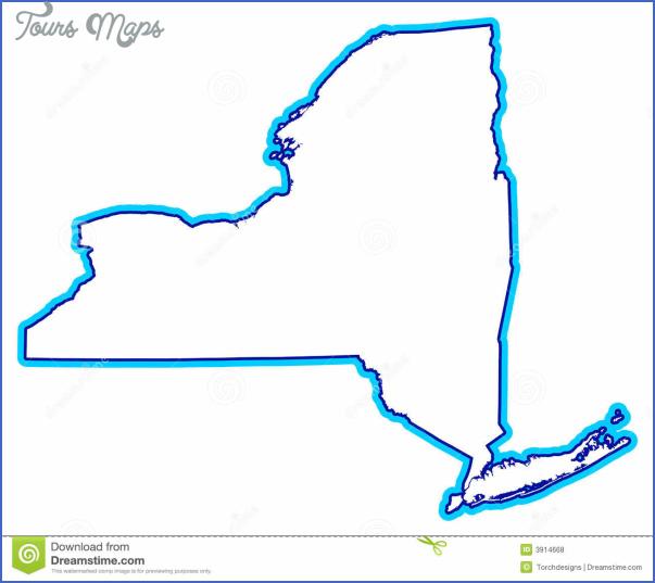New York Map Shape Toursmaps Com