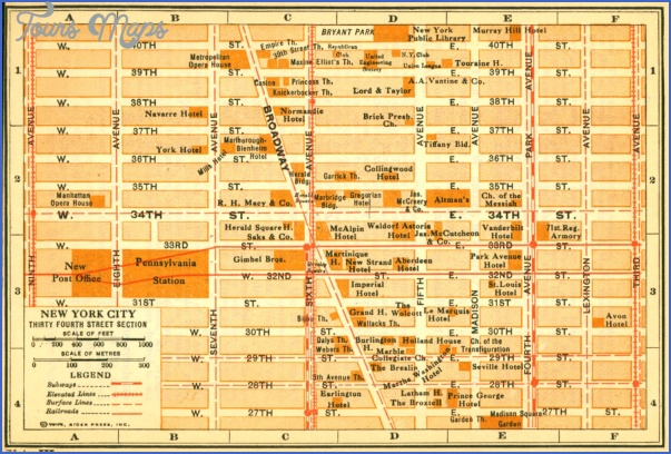 new york map streets 6 New York map streets
