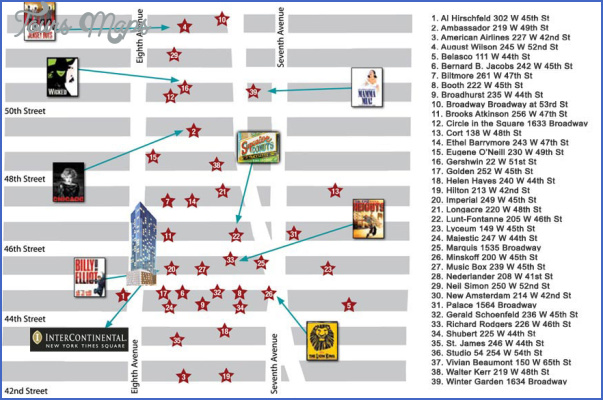 new york map theatre district 1 New York map theatre district