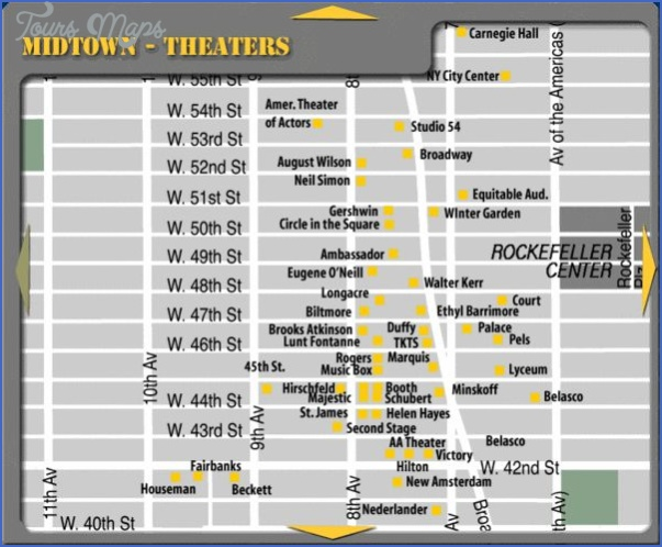 new york map theatre district 2 New York map theatre district