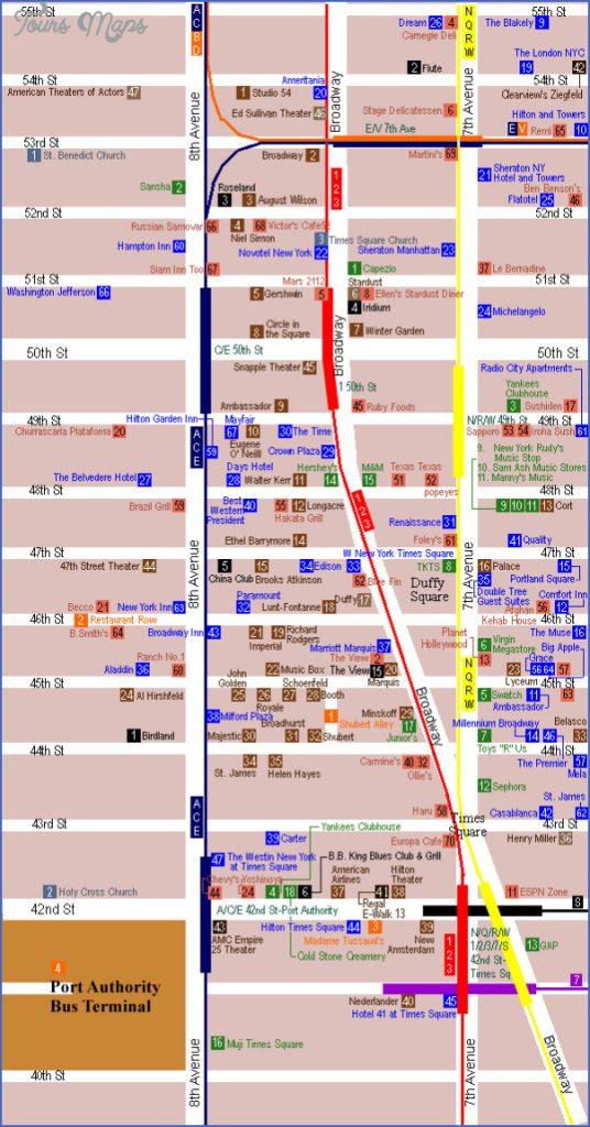 Map Of Midtown Restaurants Nyc