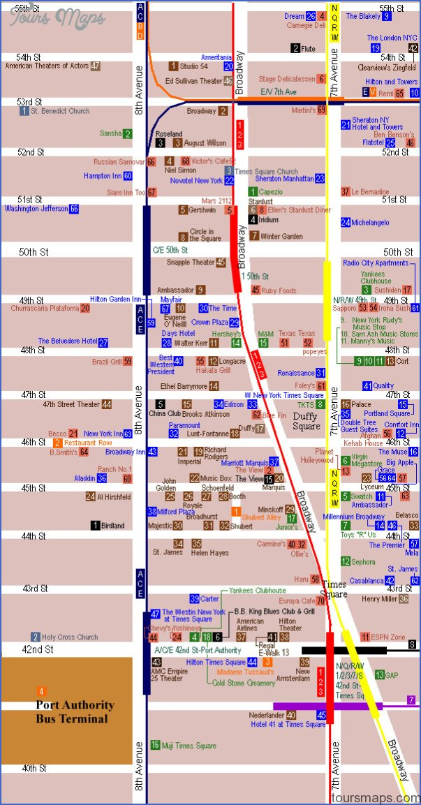 new york map times square 28 New York map times square