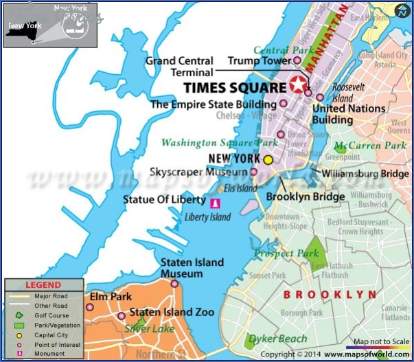 new york map times square 4 New York map times square