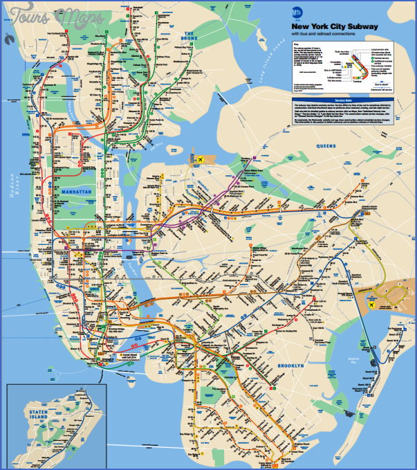 new york map train  2 New York map train