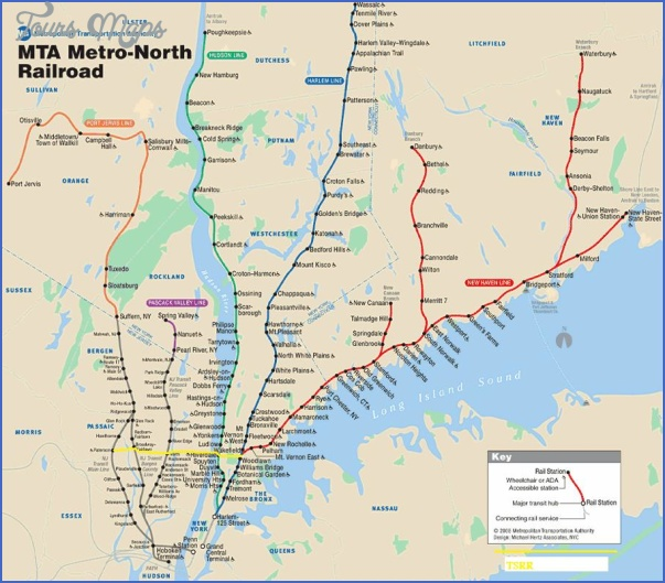 new york map train  6 New York map train