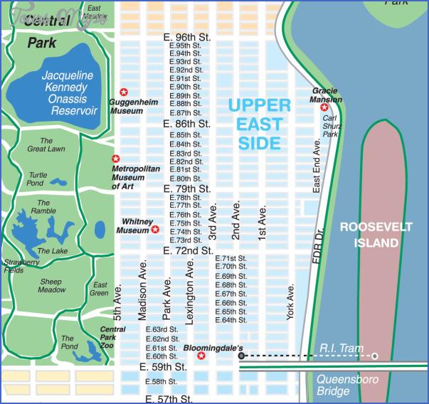 new york map upper east side 0 New York map upper east side
