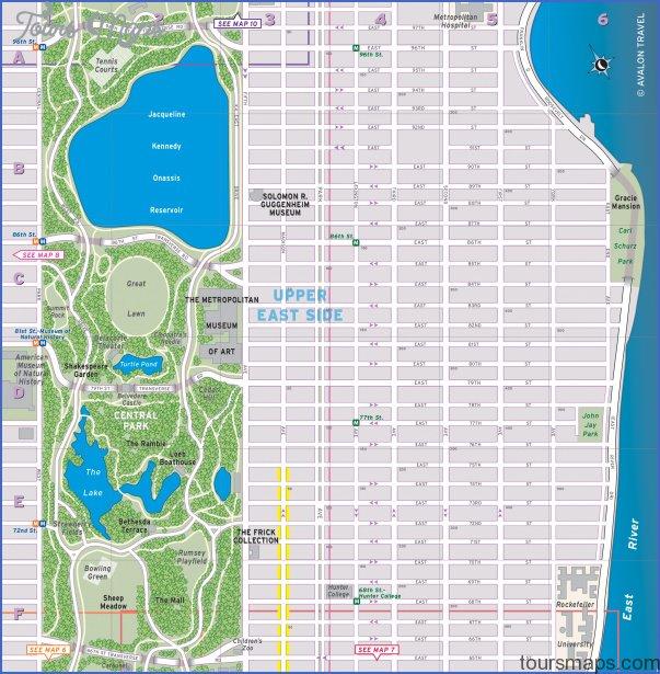 new york map upper east side 6 New York map upper east side