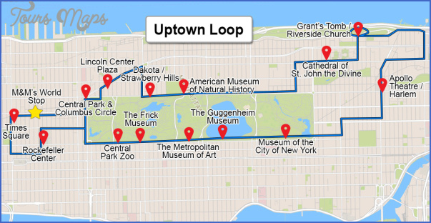 new york map uptown 6 1 New York map uptown