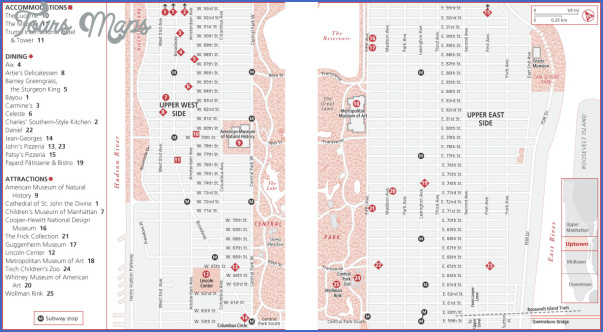 new york map uptown 6 New York map uptown