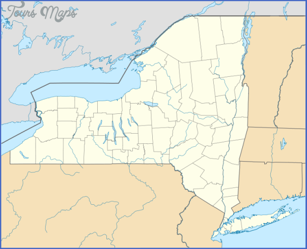 new york map us 14 New York map us